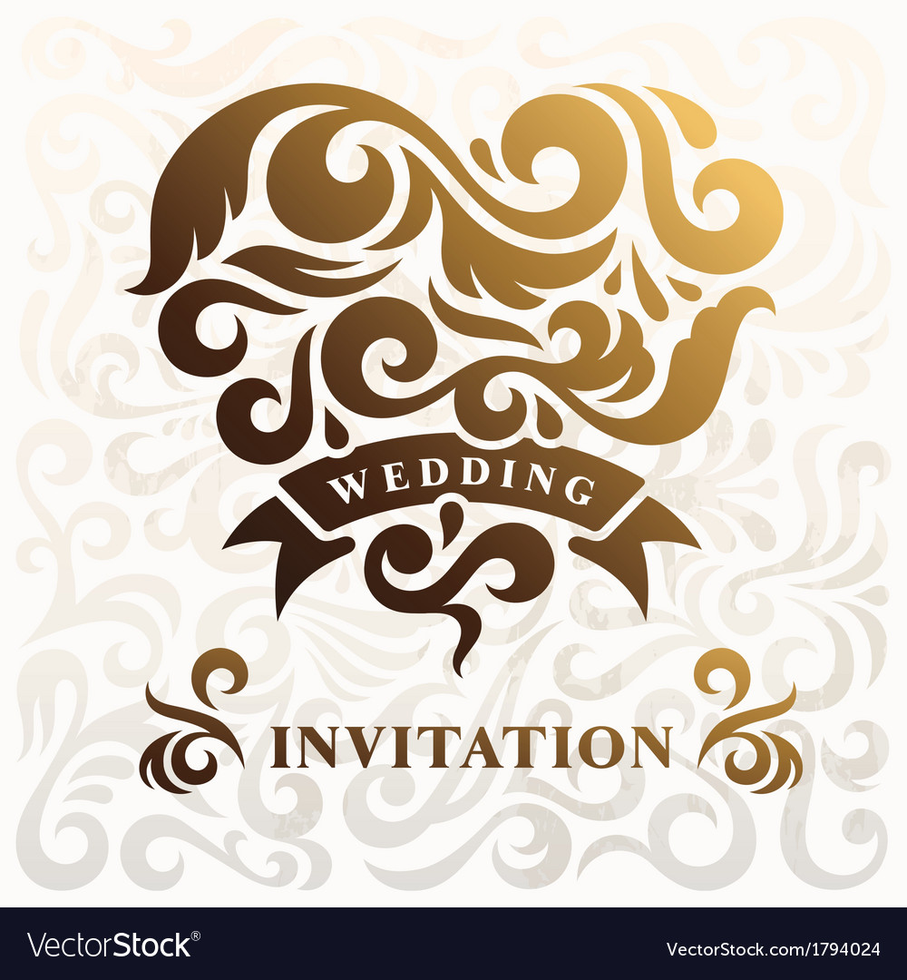 Wedding Invitation with Heart