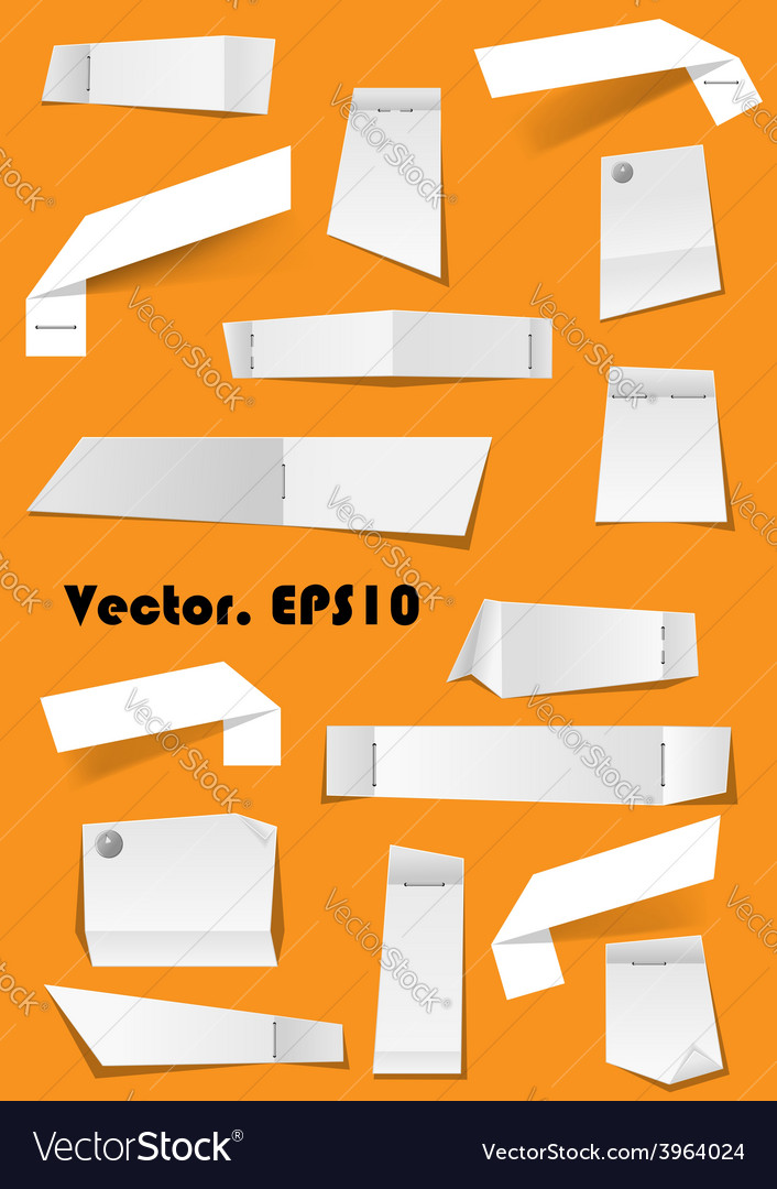 White paper notes and scraps attached with pins