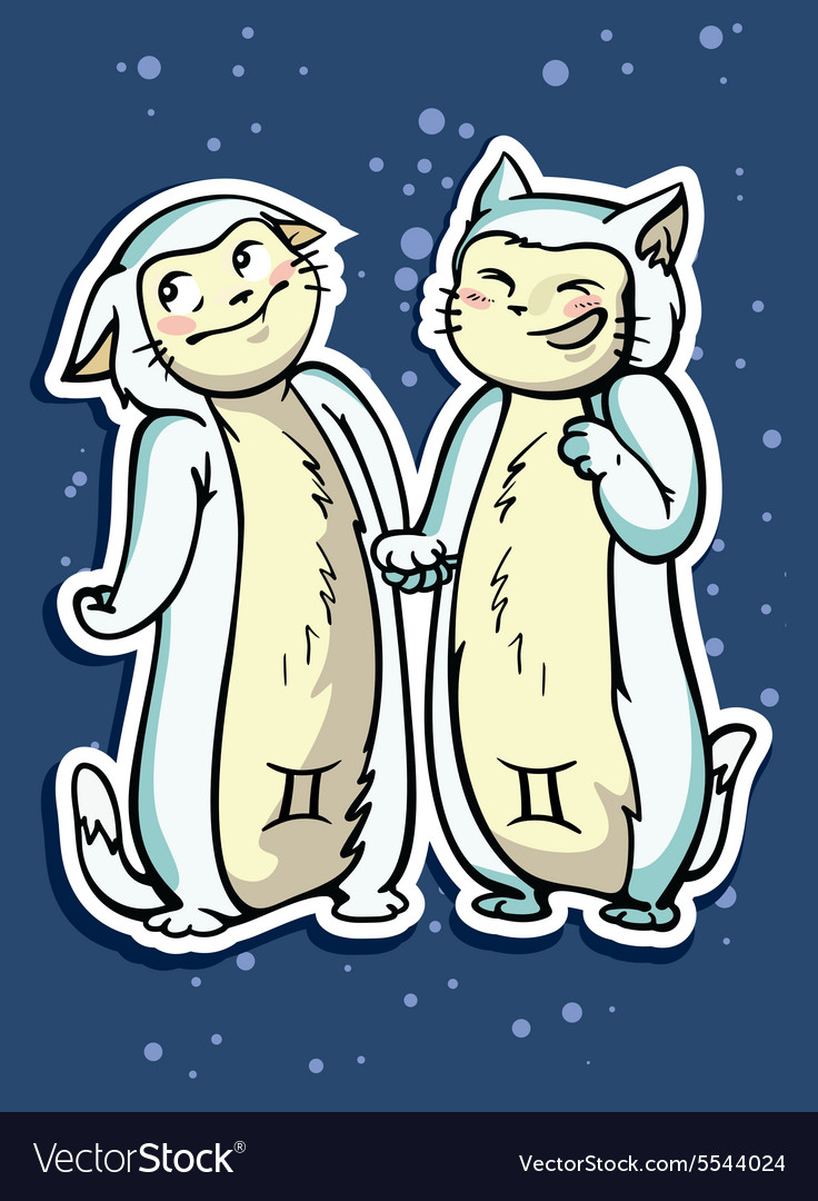 многофункциональные близнецы картинки коты