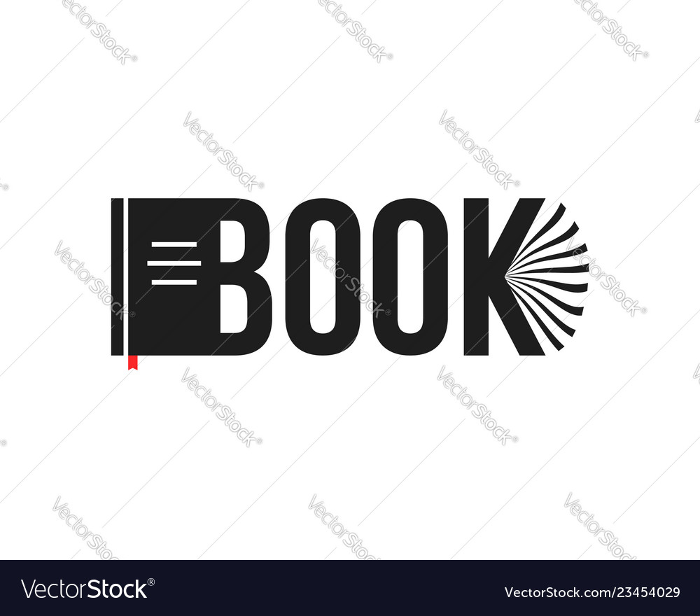 Black book abstract logo isolated on white