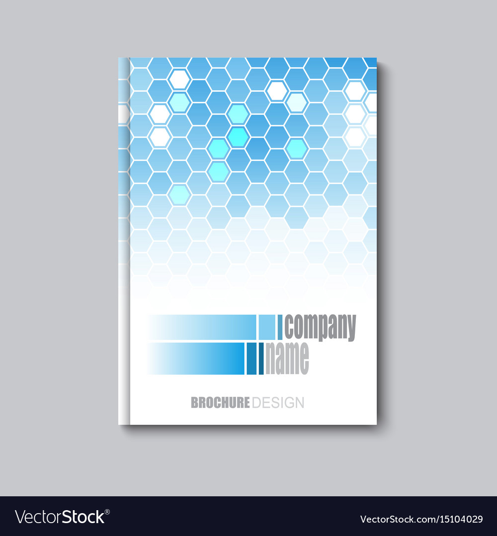 Business corporate flyer template with hexagonal