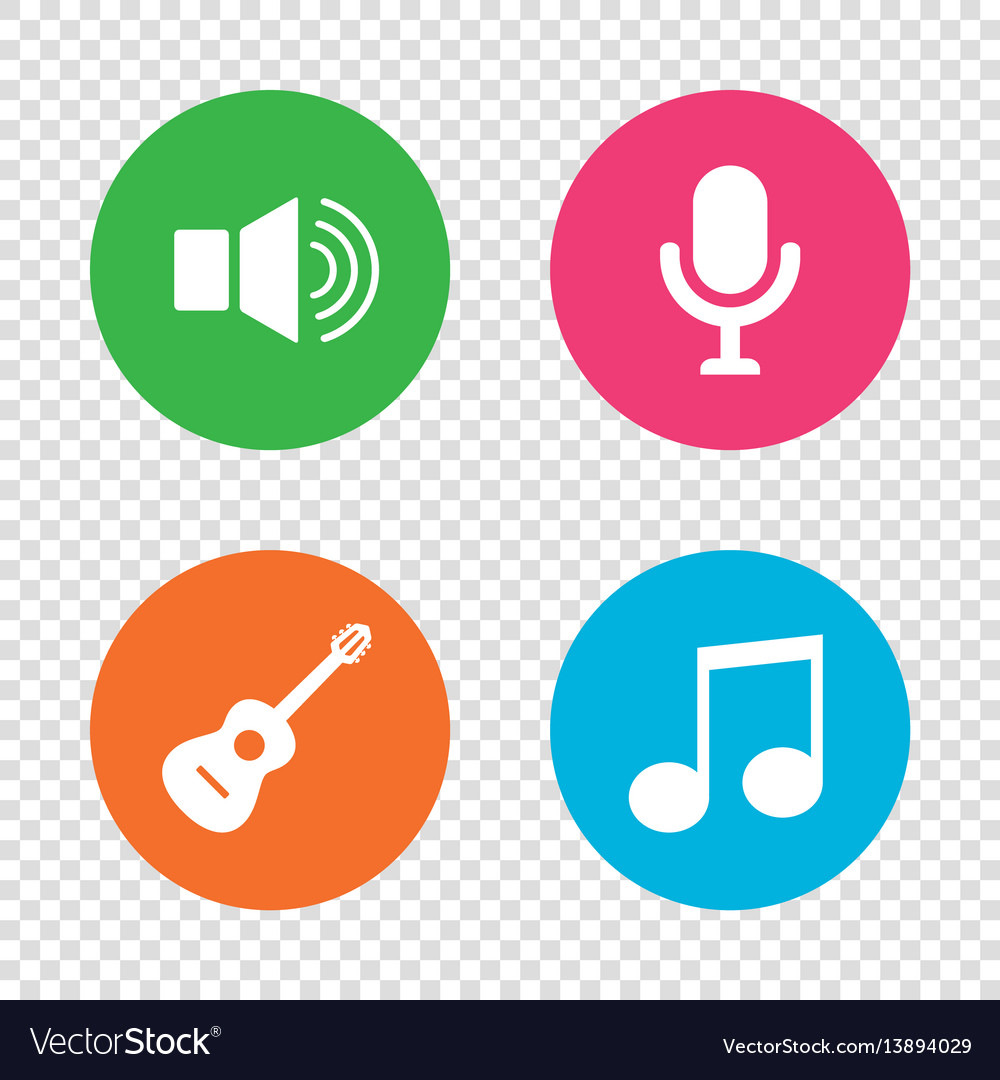 Musical elements icon microphone sound speaker