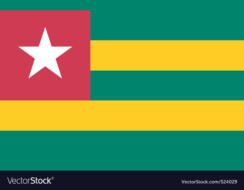 Togolese flag vector image
