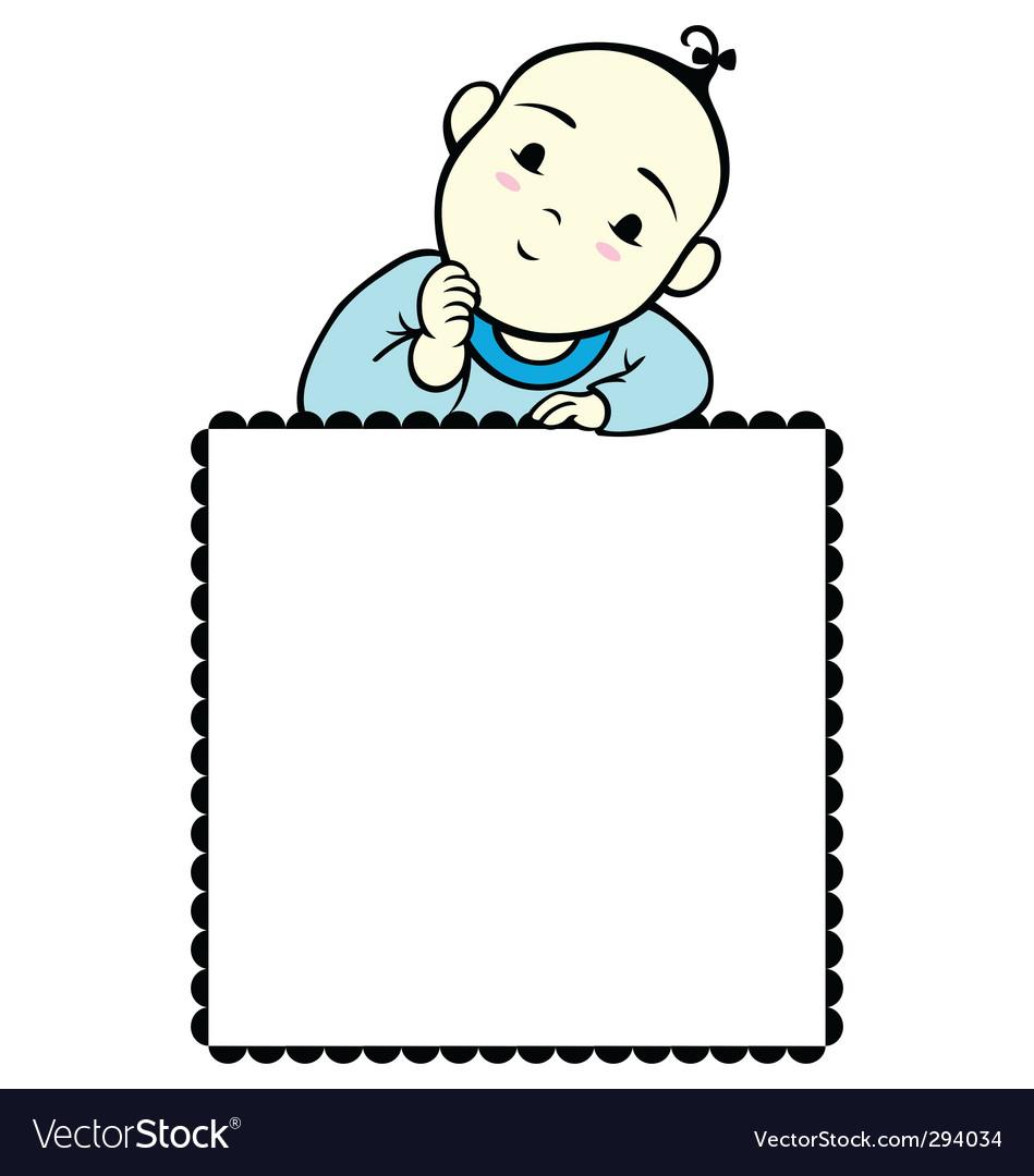 Baby boy frame vector image