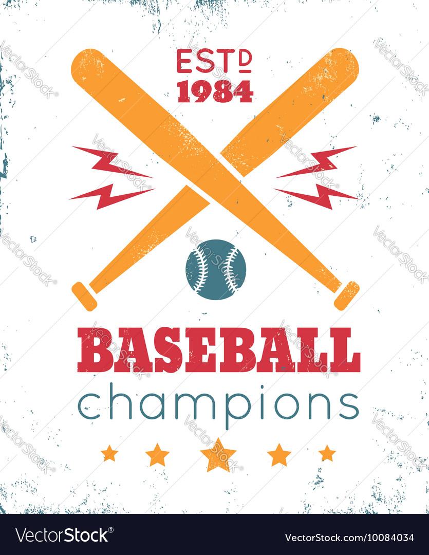 Baseball vintage poster white