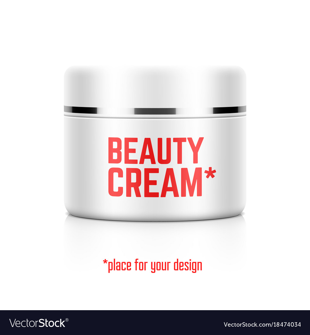 Beauty cream jar template with place for your