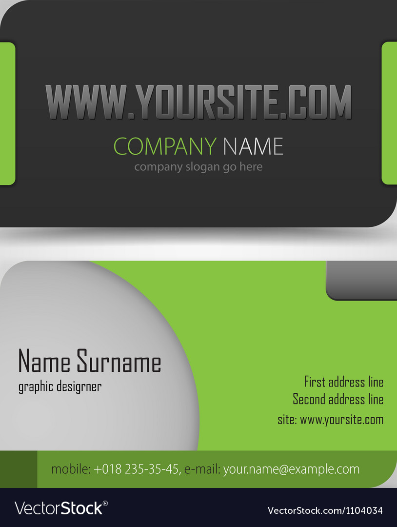 Business cards set template