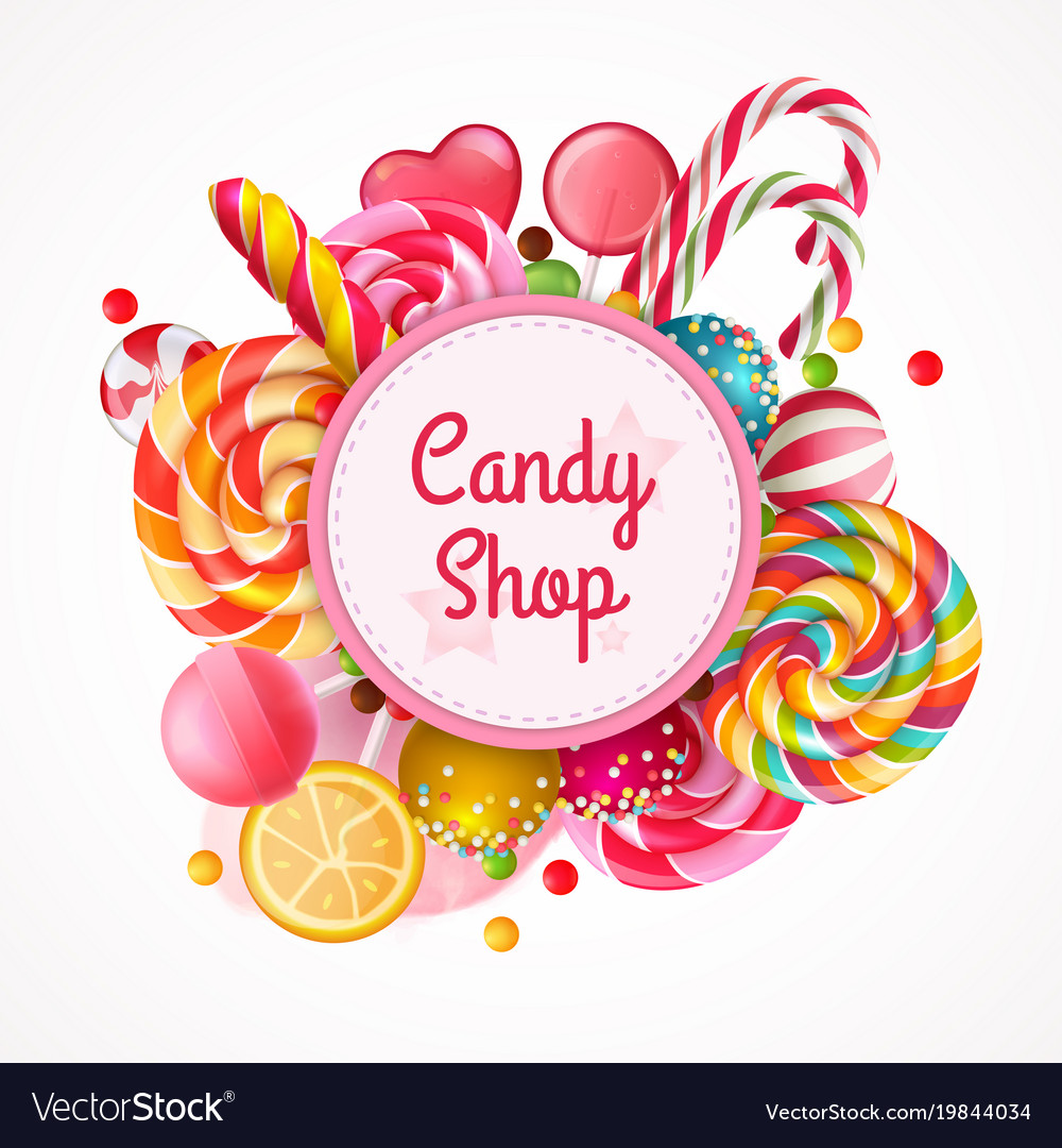 candies background royalty free vector image vectorstock