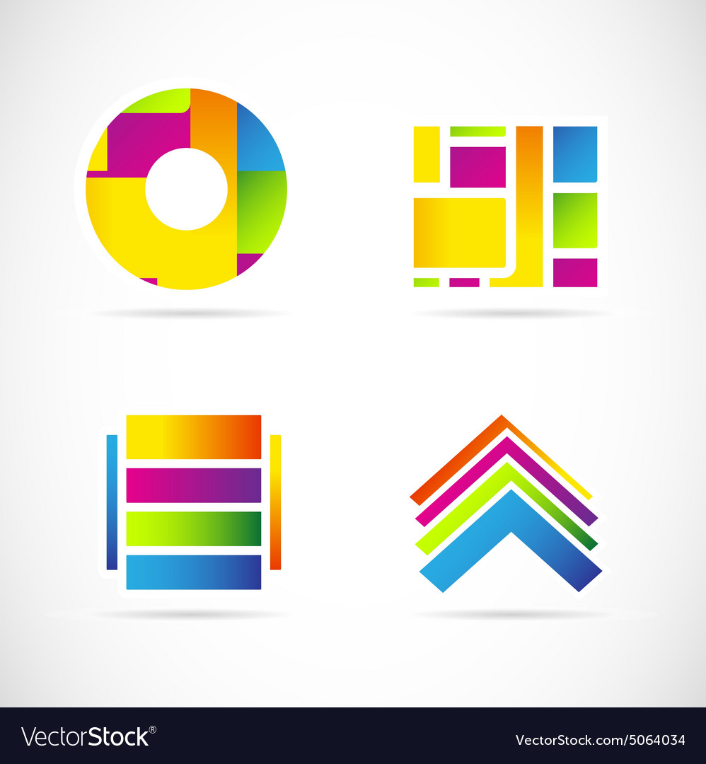Colors icon logo set symbol element