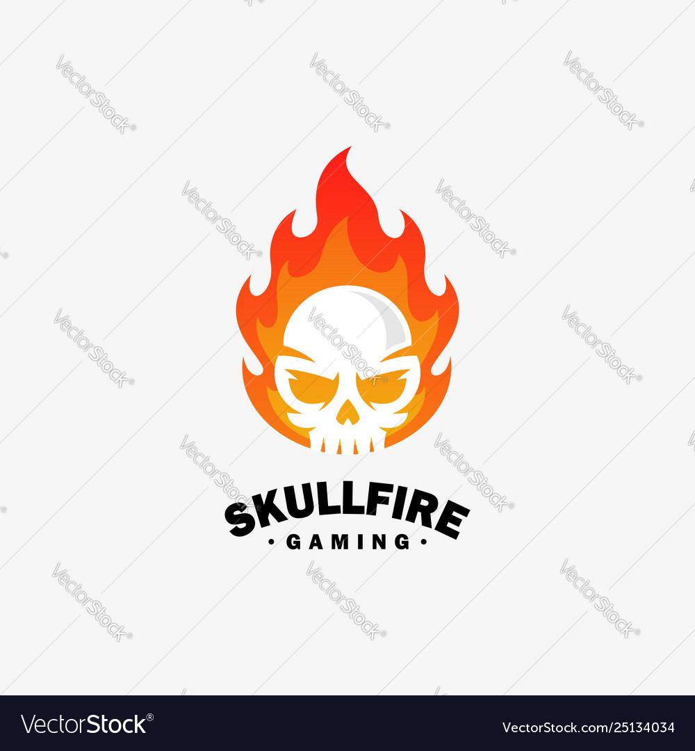 Fire skull design template