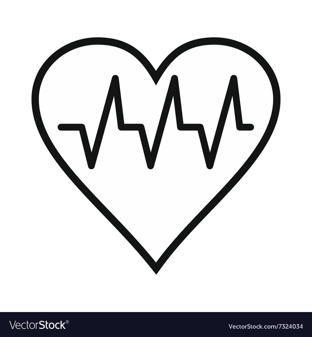 Heartbeat black simple icon