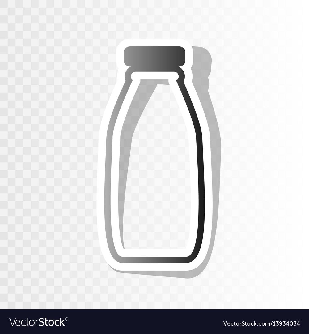 Milk bottle sign new year blackish icon
