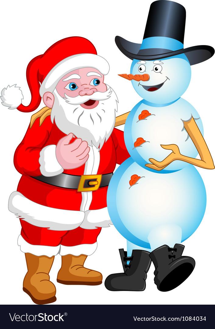 Santa and Snowman Talking