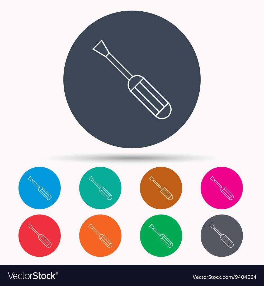 Screwdriver icon Repair or fix tool sign