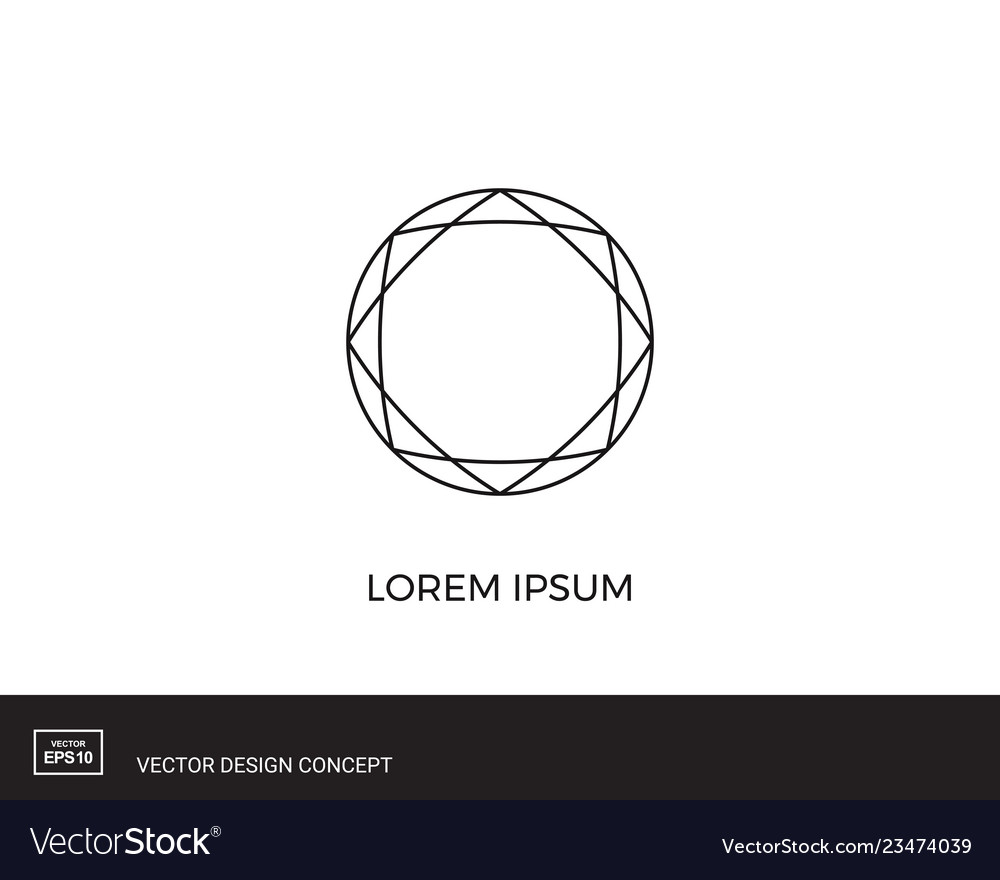 Abstract circular logo template round shape icon