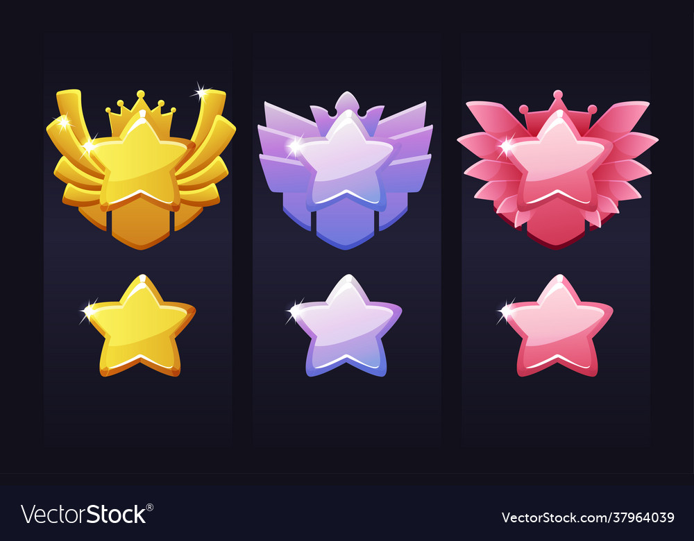 Achievement stars for game award labels