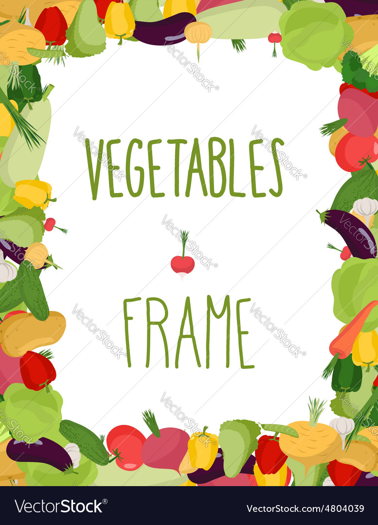 Fresh vegetables frame Healthy food