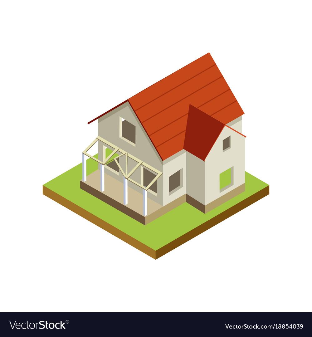 House Finishing Isometric 3d Icon