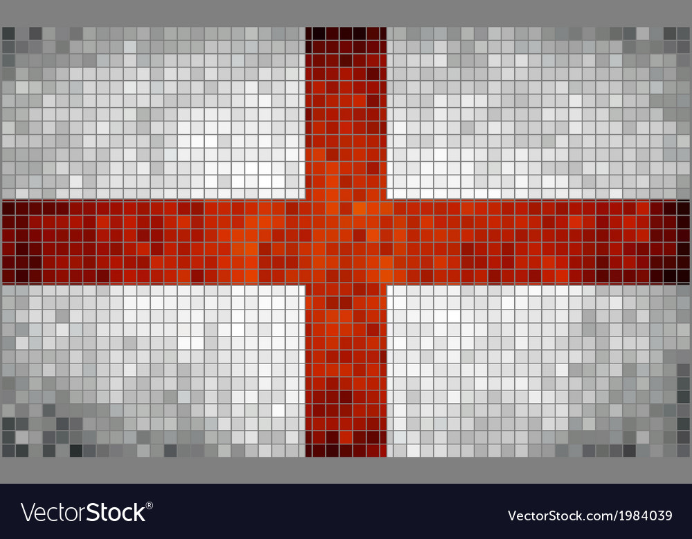 Mosaic flag of England vector image