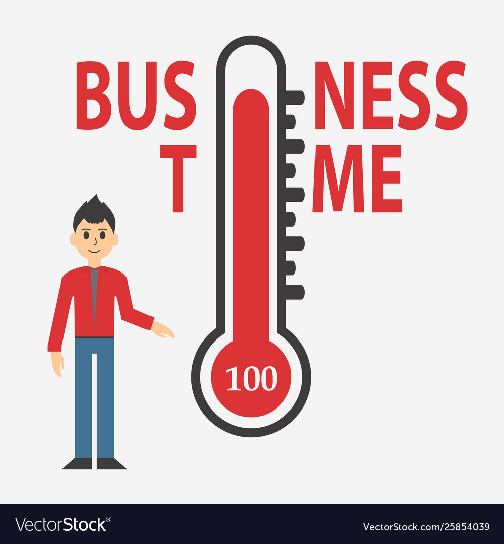 Temperature thermometers business day concept
