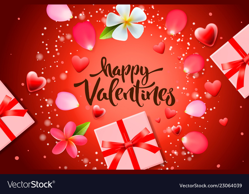 Valentines day sale background with gift box