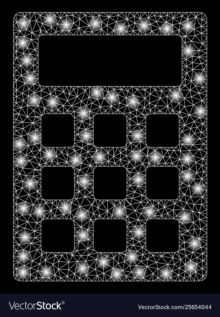 Bright mesh 2d calculator with light spots