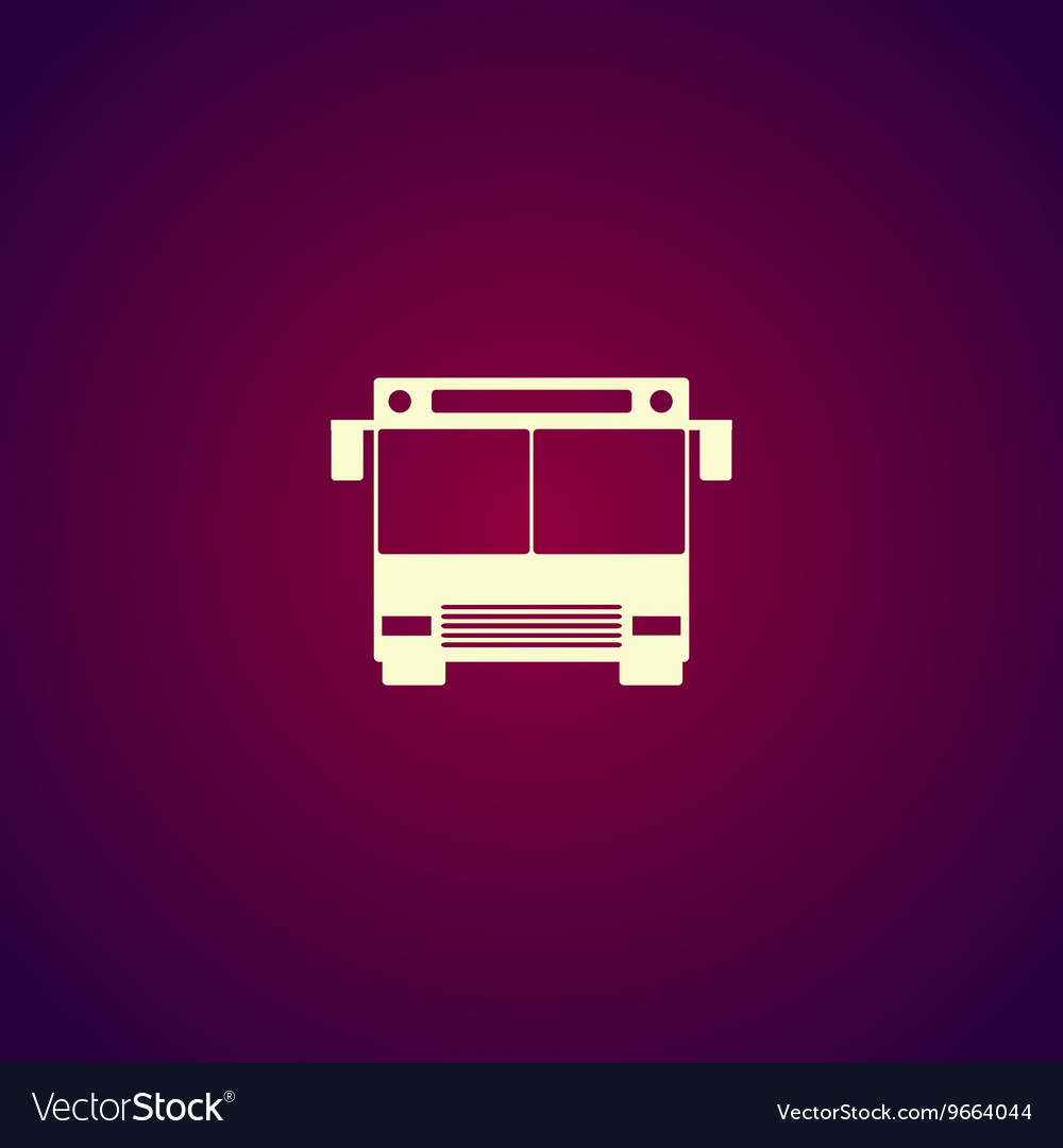 Bus icon Flat design style