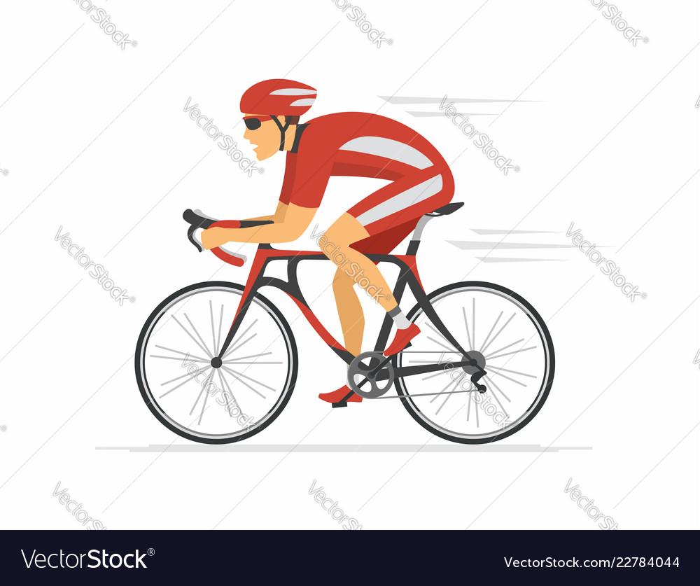Cycling - modern colorful cartoon character