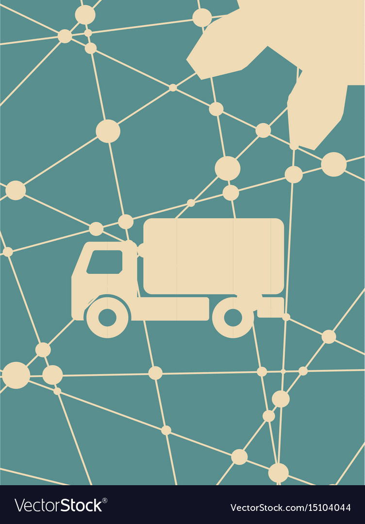 Delivery truck icon isolated