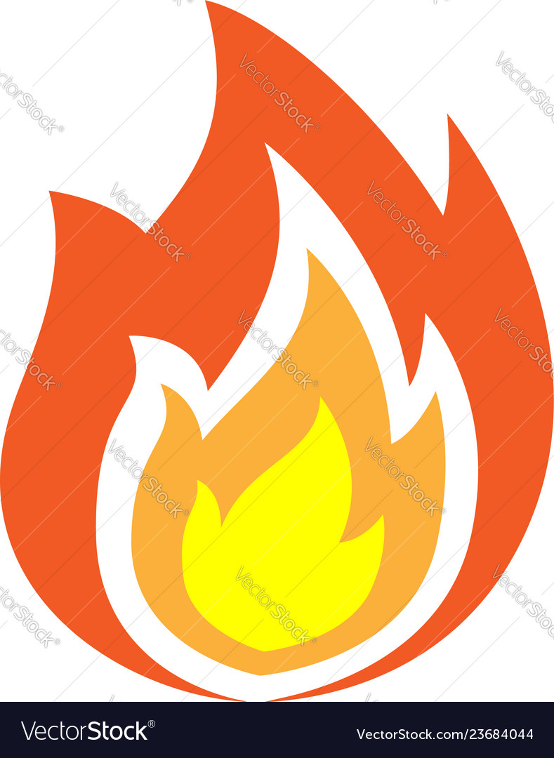 Fire flames icon isolated
