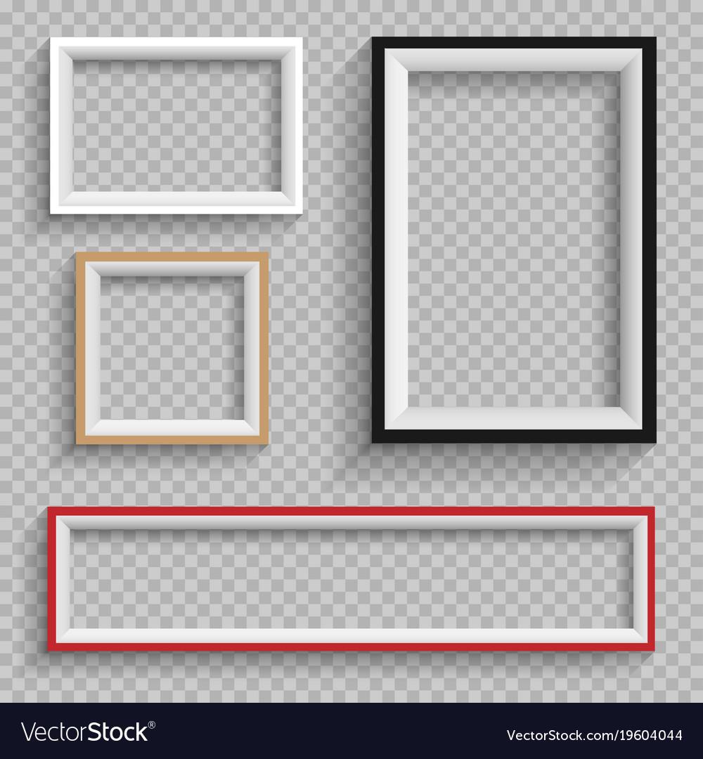 Frames set on transparent background Royalty Free Vector