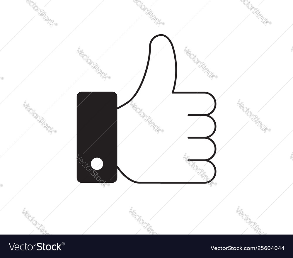 Like button hand icon