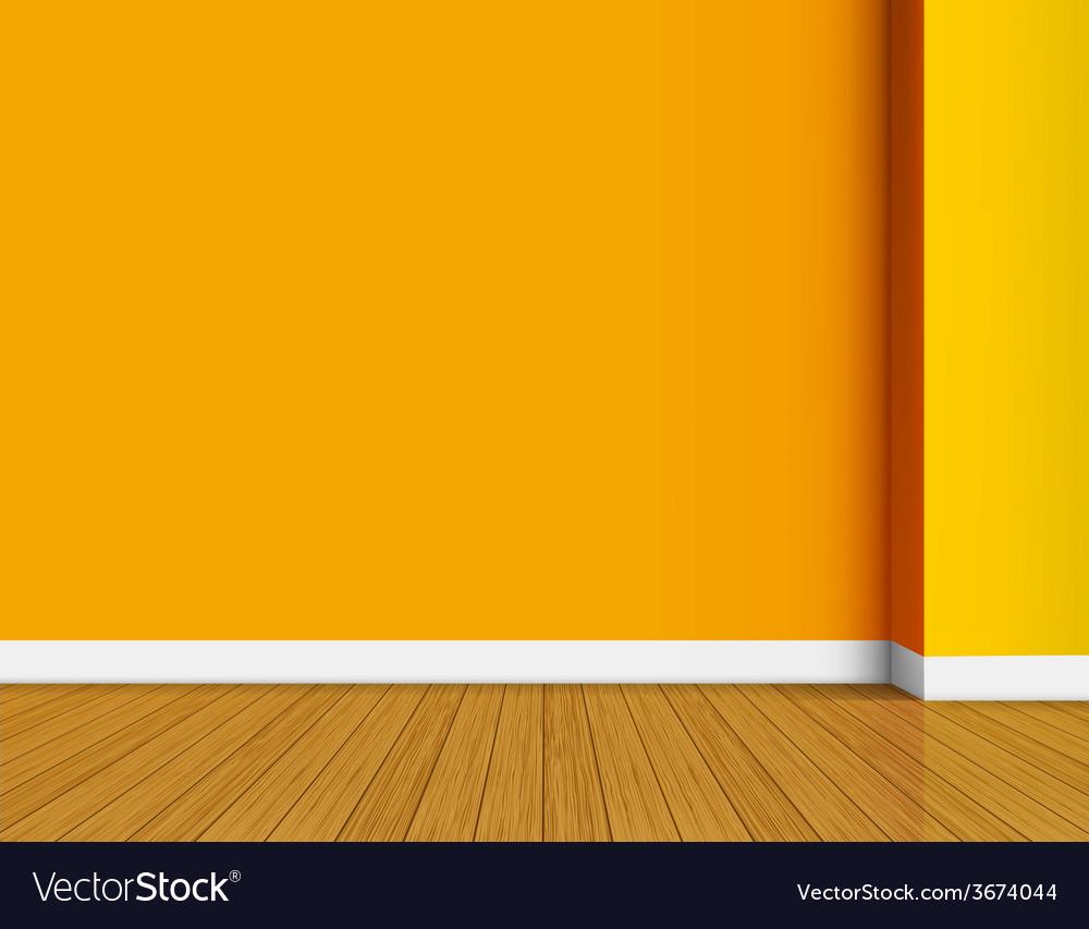Orange empty interior background