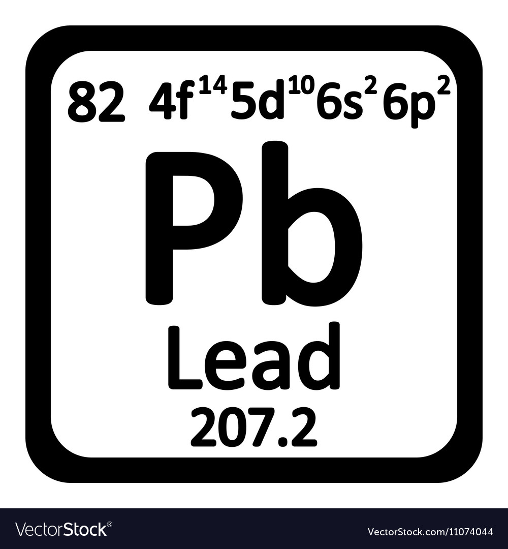 Nice Periodic Table Element Lead Icon Vector Image