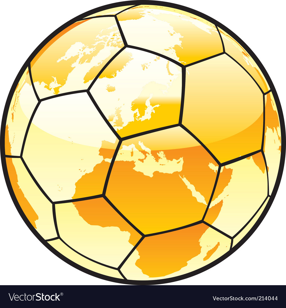 Soccer ball with world map royalty free vector image soccer ball with world map vector image gumiabroncs Gallery