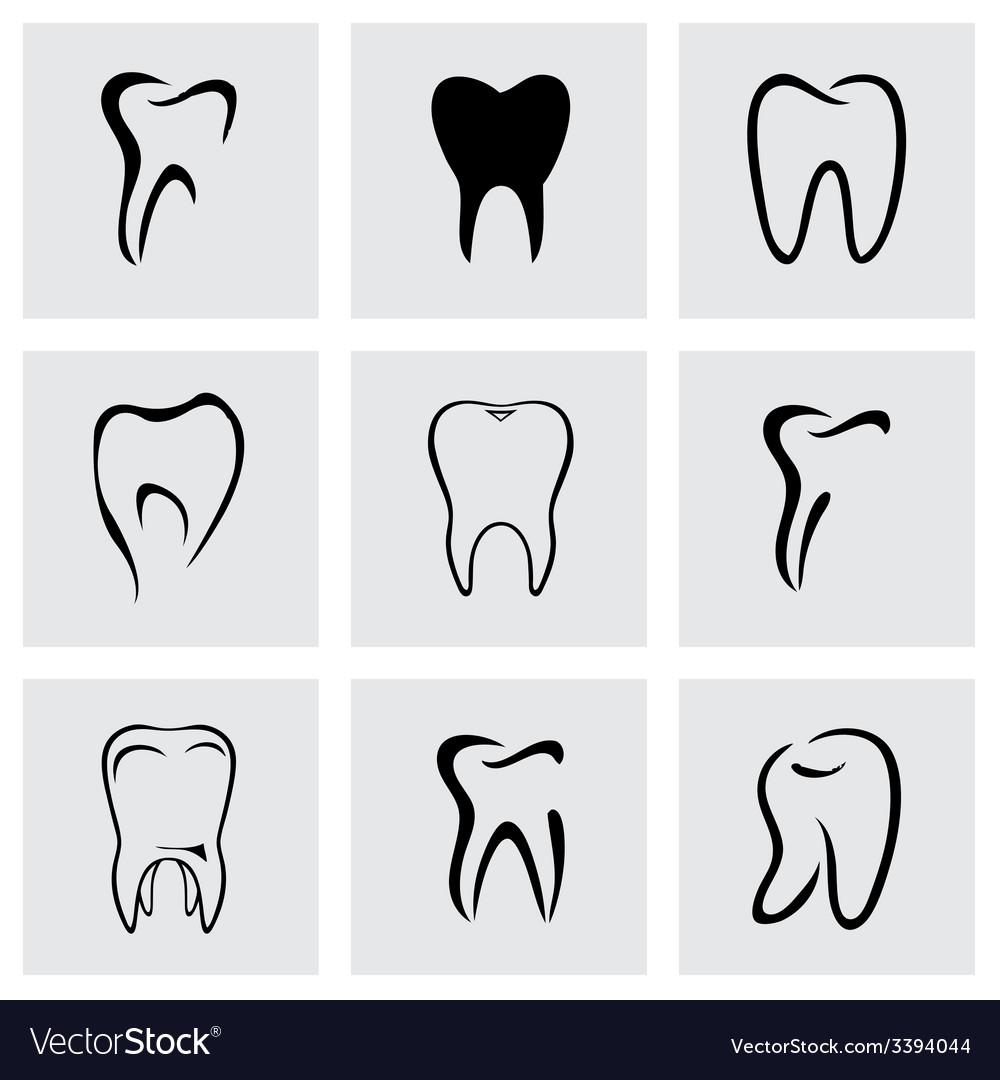Teeth icon set
