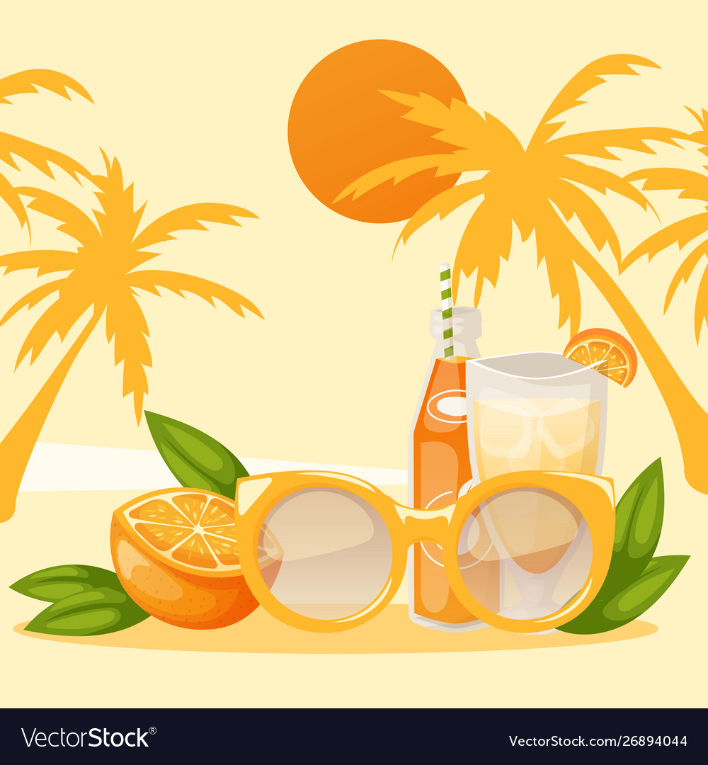 Tropical vacation banner