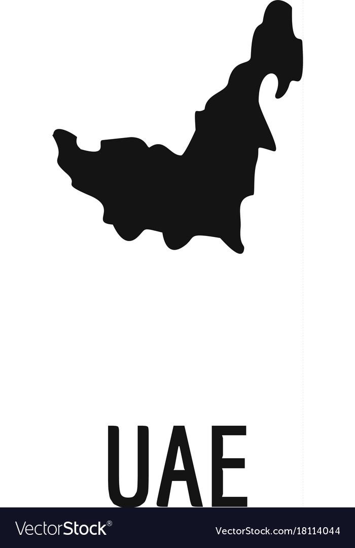uae map in black simple vector image