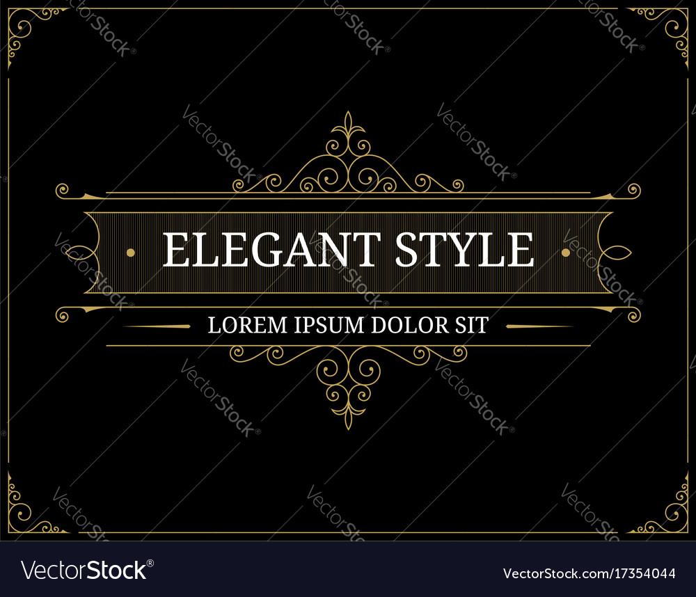 Vintage luxury logo template
