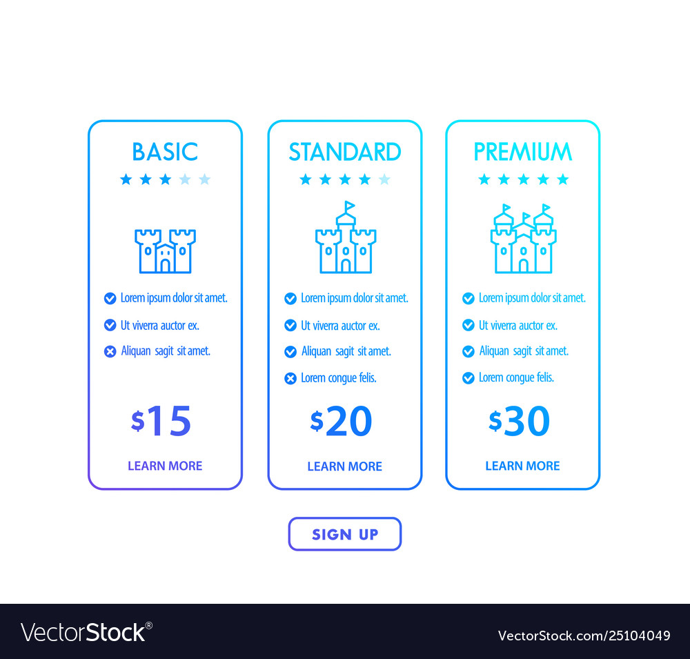 Banner for tariffs pricing tables and plans