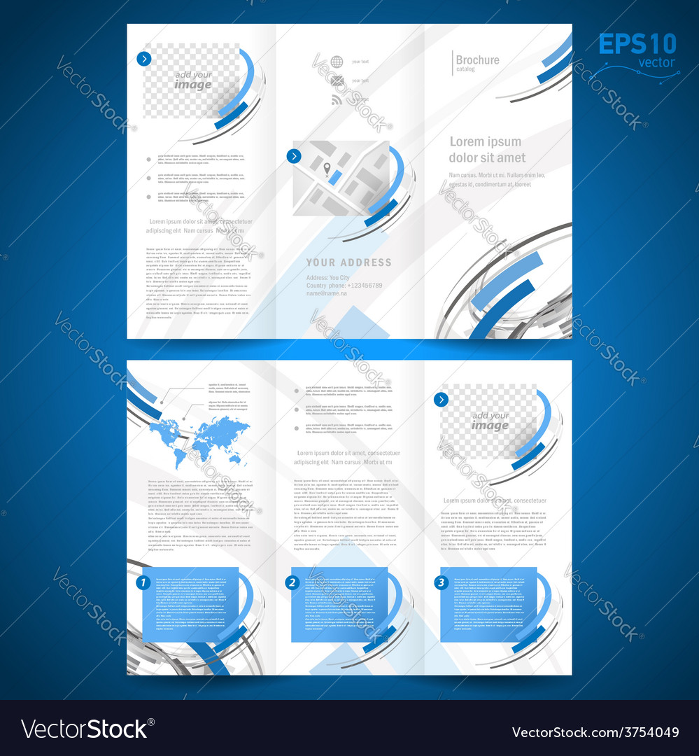 Brochure design template geometric abstract