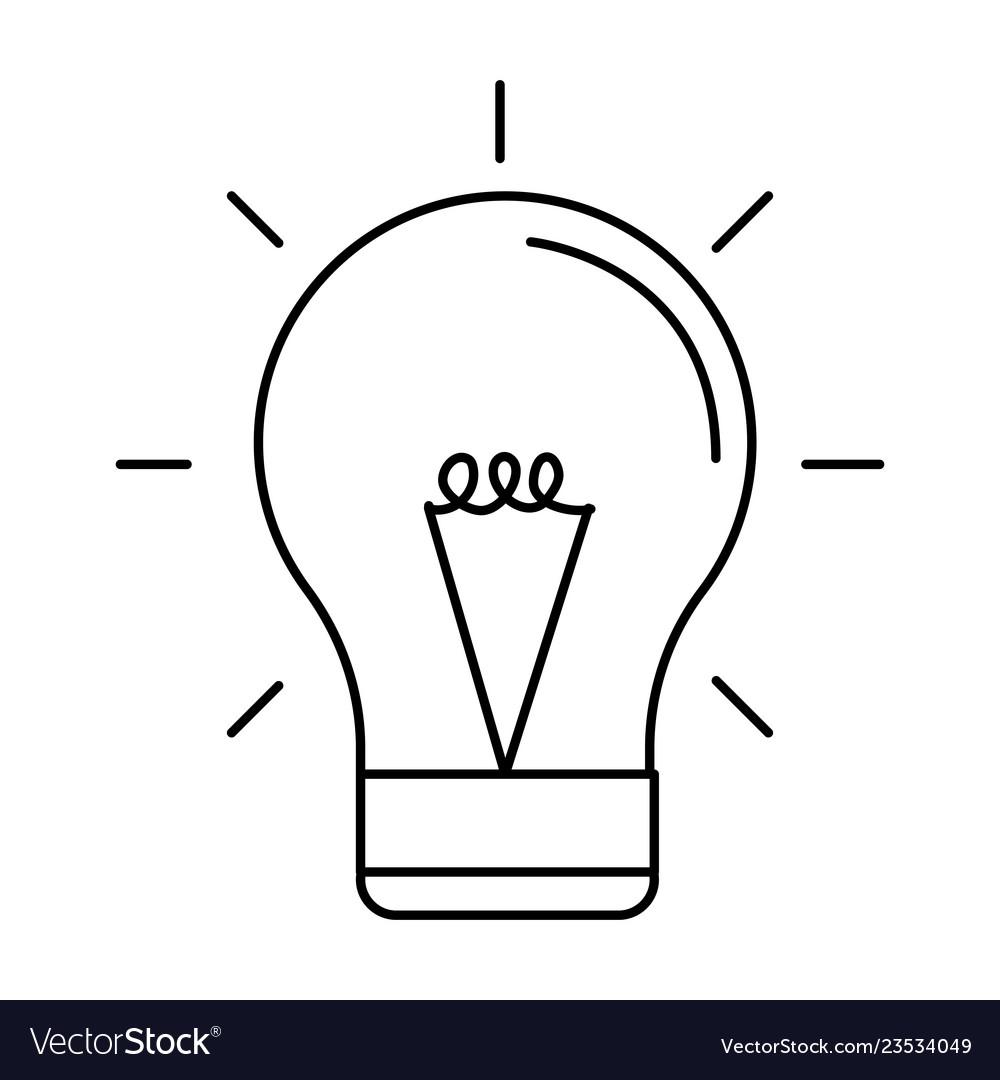 Bulb light icon black and white