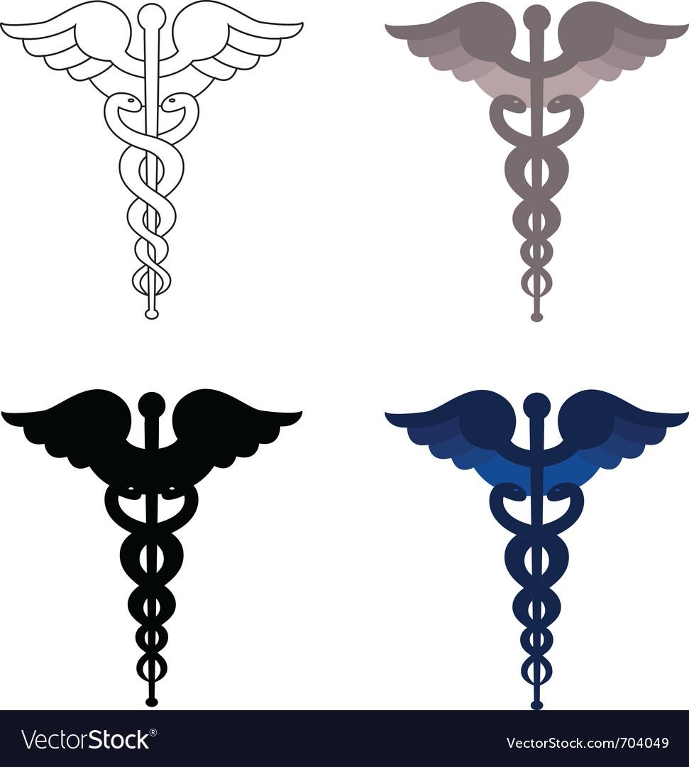Caduceus symbols vector image