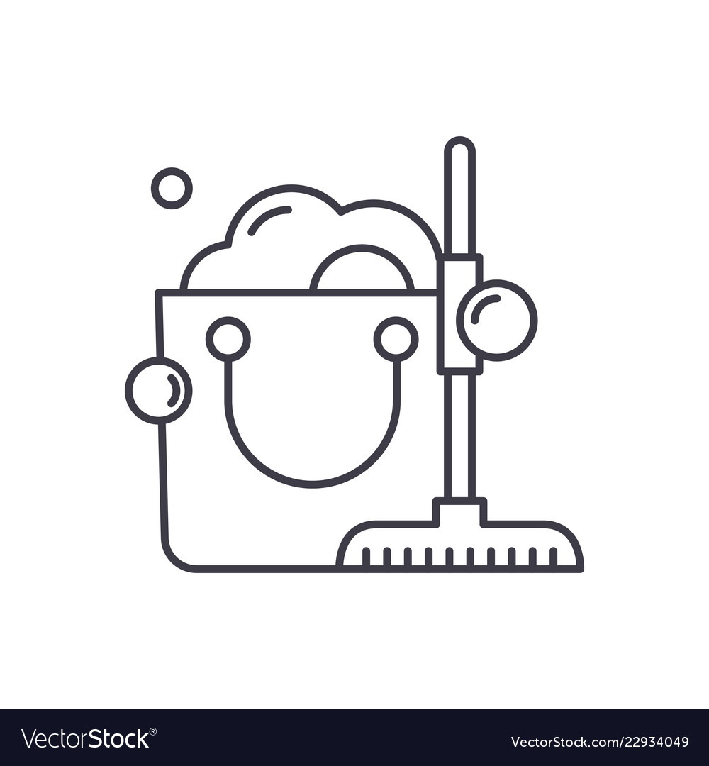 Cleaning service line icon concept cleaning