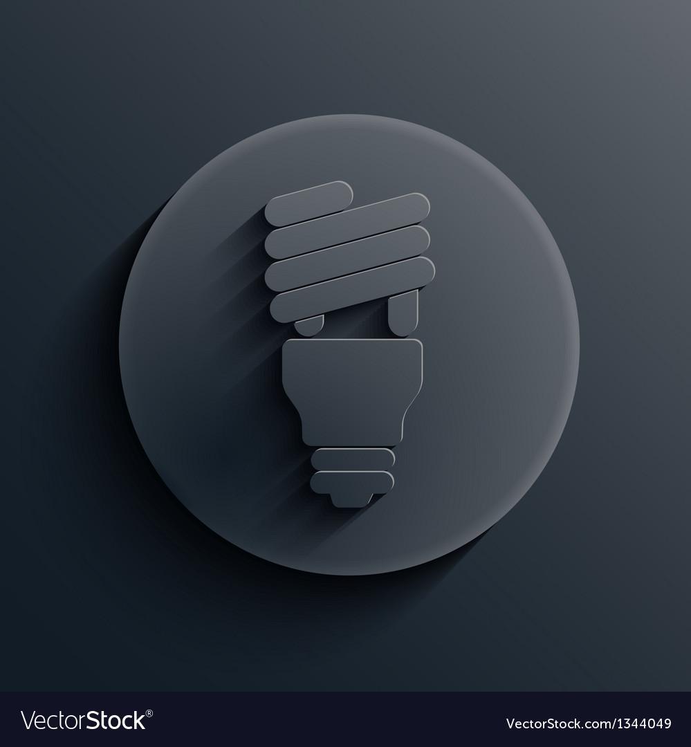 Dark circle icon eps10