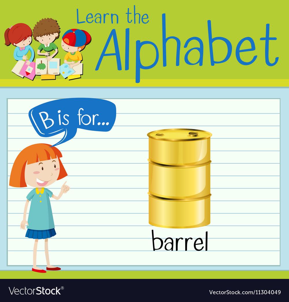 Flashcard letter B is for barrel vector image