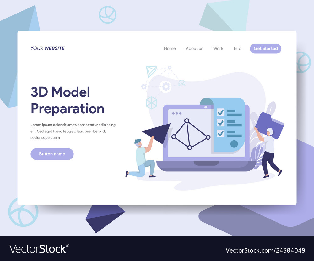 Landing page template of 3d printing model