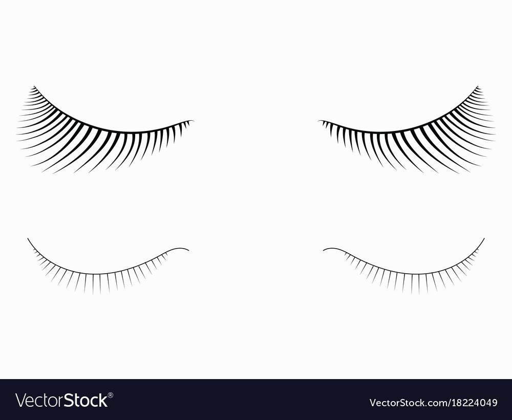 Logo of eyelashes stylized hair abstract lines