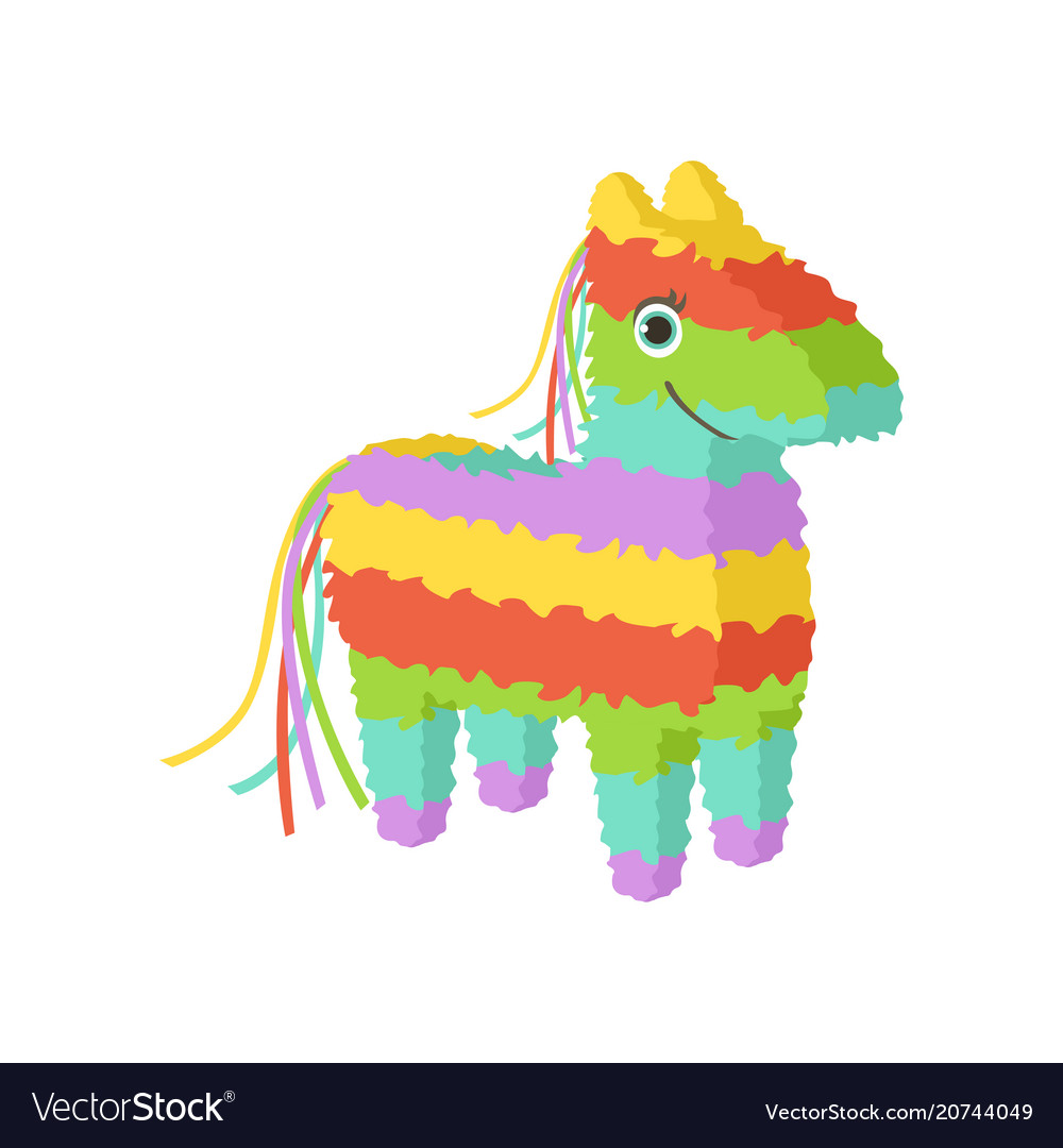 Mexican pinata traditional cultural symbol of vector image