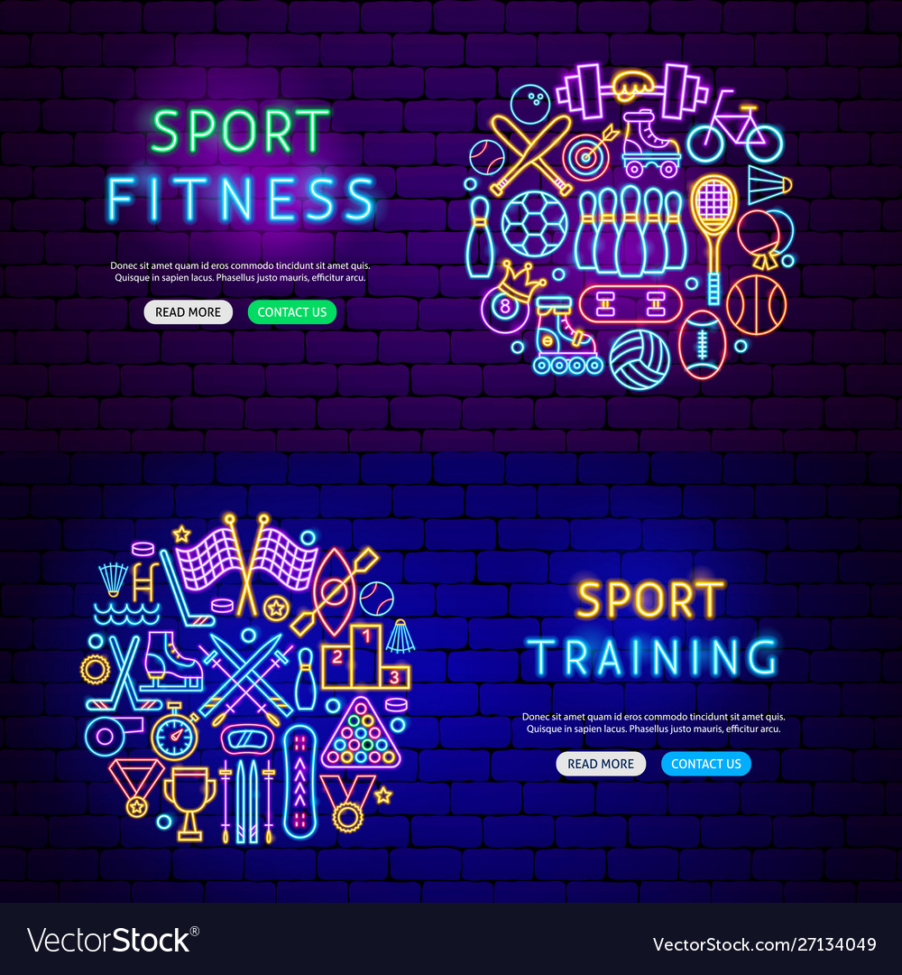 Sport items banners